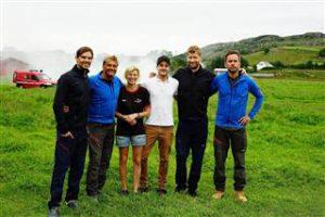 Henrik Thodesen, Dag Otto Lauritzen, Karen, Thomas, Odd Magnus Williamson og Kristian Ødegård.  Foto: Ole Martin Handeland
